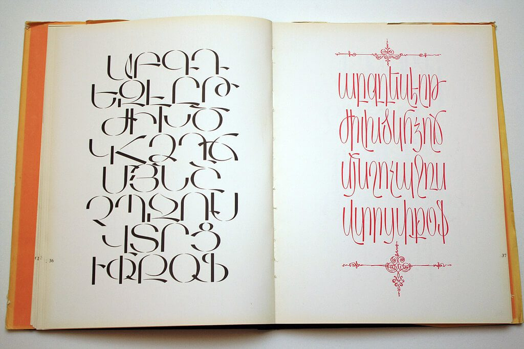 armenian language letters alphabet