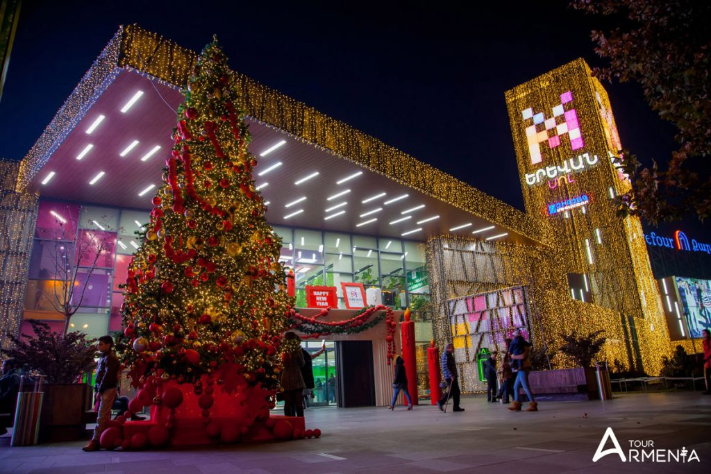Christmas in armenia yerevan mall