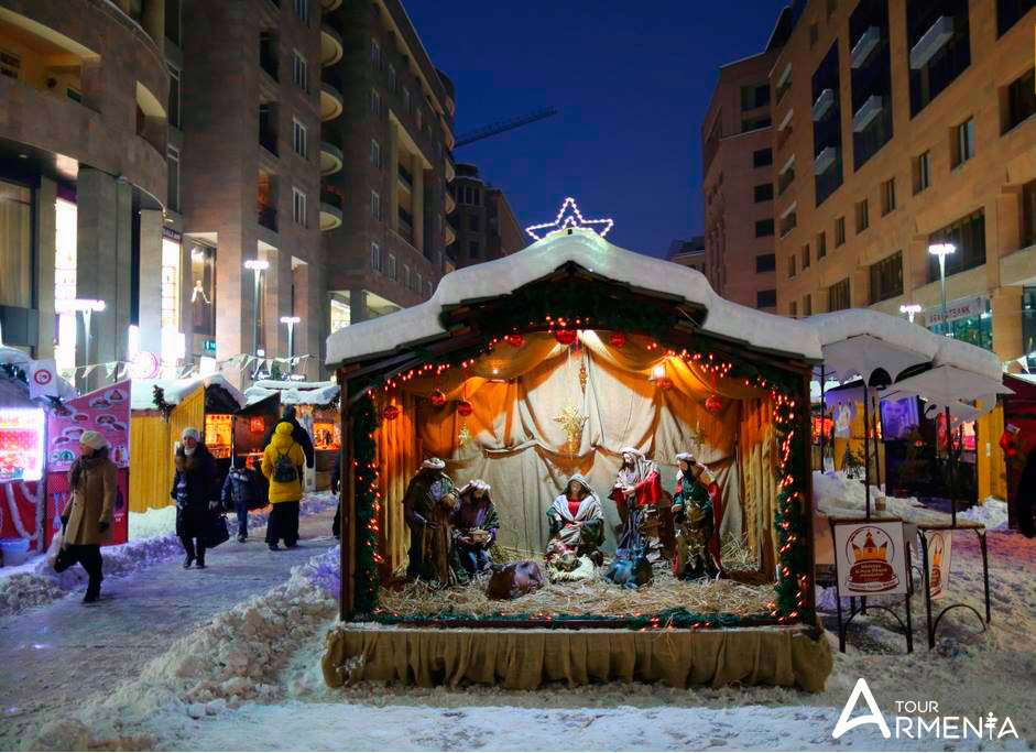 Christmas decorations in Armenia