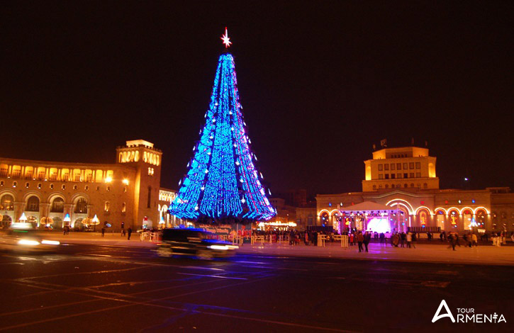 christmas tree in armenia