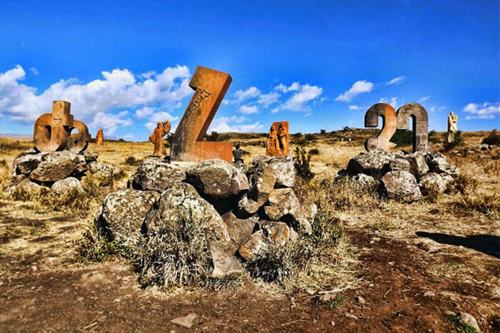 Alphabet Monument in Armenia